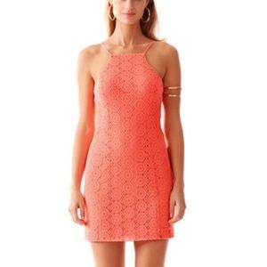 Lily Pulitzer sleeveless coral dress